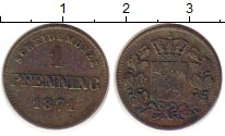 Изображение Монеты Германия Бавария 1 пфенниг 1871 Медь VF