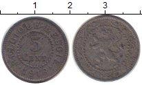 Изображение Монеты Бельгия 5 сентим 1916 Цинк XF