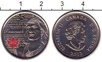Изображение Монеты Канада 25 центов 2012 Медно-никель XF