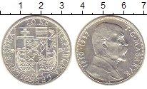 Изображение Монеты Чехословакия 20 крон 1937 Серебро UNC Томаш  Масарик.
