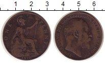 Изображение Монеты Великобритания 1 пенни 1910 Медь VF