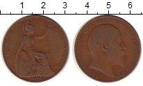 Изображение Монеты Великобритания 1 пенни 1906 Медь VF Эдуард VII.