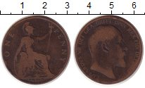 Изображение Монеты Великобритания 1 пенни 1902 Медь VF Эдуард VII.