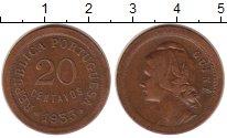 Изображение Монеты Португальская Гвинея 20 сентаво 1933 Бронза XF Португальская колони
