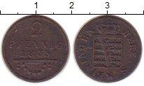 Изображение Монеты Саксен-Майнинген 2 пфеннига 1833 Медь VF