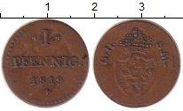 Изображение Монеты Гессен-Дармштадт 1 пфенниг 1819 Медь XF