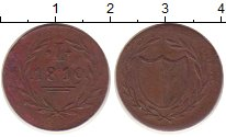 Изображение Монеты Германия Франкфурт 1 пфенниг 1819 Медь XF