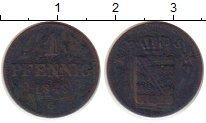 Изображение Монеты Саксония 1 пфенниг 1843 Медь VF