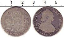 Изображение Монеты Мексика 2 реала 1808 Серебро VF Испанская колония.Ка