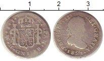 Изображение Монеты Мексика 1/2 реала 1821 Серебро VF Испанская колония.Фе