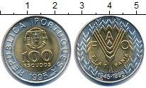 Изображение Монеты Португалия 100 эскудо 1995 Биметалл UNC-