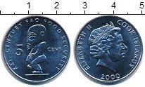 Изображение Монеты Острова Кука 5 центов 2000 Медно-никель UNC-