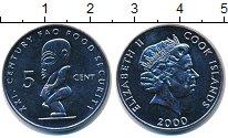Изображение Монеты Новая Зеландия Острова Кука 5 центов 2000 Медно-никель UNC-