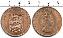 Изображение Монеты Остров Джерси 1/12 шиллинга 1966 Бронза UNC-