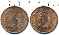 Изображение Монеты Маврикий 5 центов 1978 Бронза UNC-
