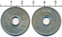 Изображение Монеты Фиджи 1 пенни 1967 Медно-никель XF