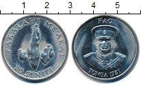 Изображение Монеты Тонга 20 сенити 1981 Медно-никель UNC ФАО.
