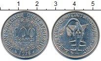 Изображение Монеты Западно-Африканский Союз 100 франков 1978 Медно-никель UNC- Золотая гиря Ашанти