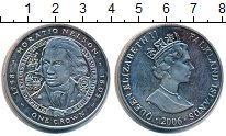 Изображение Монеты Великобритания Фолклендские острова 1 крона 2006 Медно-никель UNC-