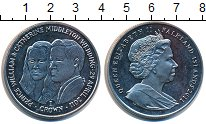 Изображение Монеты Фолклендские острова 1 крона 2011 Медно-никель UNC- Елизавета II. Свадьб