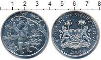 Изображение Монеты Сьерра-Леоне 1 доллар 2006 Медно-никель UNC- Обезьяны.