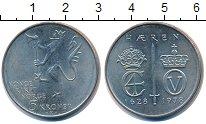 Изображение Монеты Норвегия 5 крон 1978 Медно-никель UNC- 350 лет норвежской а