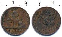 Изображение Монеты Бельгия 2 цента 1859 Медь VF