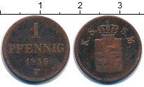 Изображение Монеты Германия Саксония 1 пфенниг 1856 Медь VF
