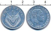 Изображение Монеты Руанда 1 франк 1969 Алюминий XF-