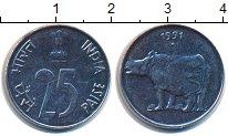 Изображение Монеты Индия 25 пайс 1991 Сталь UNC-
