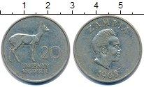 Изображение Монеты Замбия 20 нгвей 1968 Медно-никель XF