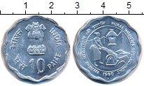 Изображение Монеты Индия 10 пайса 1980 Алюминий UNC-