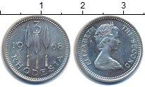 Изображение Монеты Великобритания Родезия 3 пенса 1968 Медно-никель UNC-