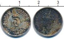 Изображение Монеты Малайя 5 центов 1943 Серебро VF