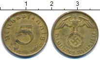 Изображение Монеты Третий Рейх 5 пфеннигов 1938 Латунь XF В