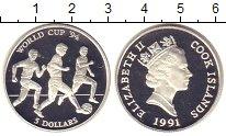 Изображение Монеты Острова Кука 5 долларов 1991 Серебро Proof Елизавета II.  Чемпи