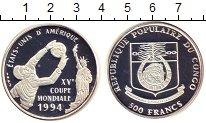 Изображение Монеты Конго 500 франков 1994 Серебро Proof- Чемпионат мира по фу