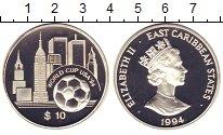 Изображение Монеты Карибы 10 долларов 1994 Серебро Proof-