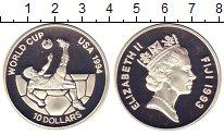 Изображение Монеты Фиджи 10 долларов 1994 Серебро Proof-