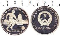 Изображение Монеты Вьетнам 100 донг 1992 Серебро Proof-