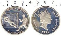 Изображение Монеты Острова Кука 10 долларов 1992 Серебро Proof- Чемпионат мира по фу