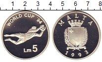 Изображение Монеты Мальта 5 фунтов 1993 Серебро Proof-