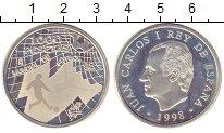 Изображение Монеты Испания 1000 песет 1998 Серебро Proof- Чемпионат мира по фу