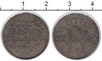 Изображение Монеты Пруссия 1/24 талера 1782 Медь