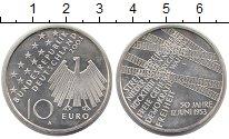 Изображение Монеты Германия 10 евро 2003 Серебро XF 50 лет забастовки в