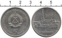 Изображение Монеты ГДР 5 марок 1989 Медно-никель XF Мариенкирхе в Мюльха