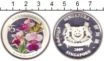 Изображение Монеты Сингапур 5 долларов 2009 Серебро Proof