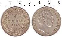 Изображение Монеты Бавария 1 гульден 1849 Серебро XF