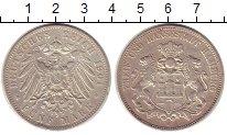 Изображение Монеты Гамбург 5 марок 1901 Серебро XF-