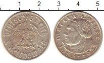 Изображение Монеты Веймарская республика 2 марки 1933 Серебро XF Мартин Лютер (D)